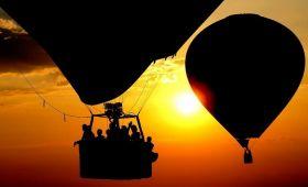 romantický let balonem