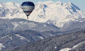 let balonem přes alpy